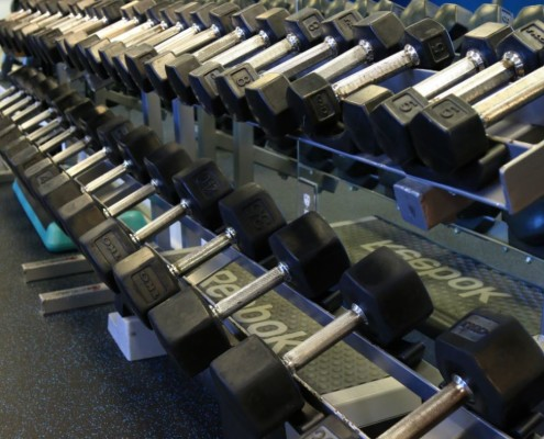 The Queen's Harbour Fitness Center features 4,000 square feet of state-of-the-art equipment